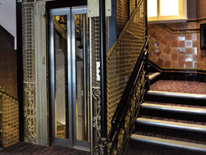 Brass lift shaft cage at the Hippodrome by James Gilbert and Son - Image 3