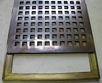 Antique Brass Floor Grille With Frame