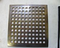 Antique Brass Floor Grille Without Frame