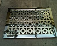 Square Pattern Polished Brass Floor Grille with T Frame