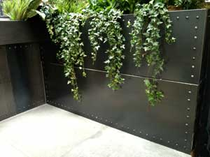 Metal Cladding Retro Steel Planter