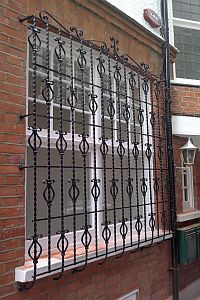 Decorative Window Bars - Black